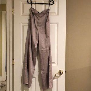 Satin beige high waisted pants LAST PRICE DROP :)